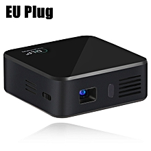 E05 Mini Pocket Projector Android 4.4.4 RK3128 Quad Core 120 Lumens 854 x 480 Pixels 1080P HD Media Player Support WiFi Bluetooth 4.0-BLACK