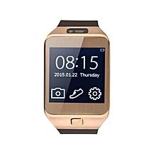 DZ09 - 1.56 Smart Watch - 128MB ROM - 64MB RAM - 0.3MP Camera - Brown