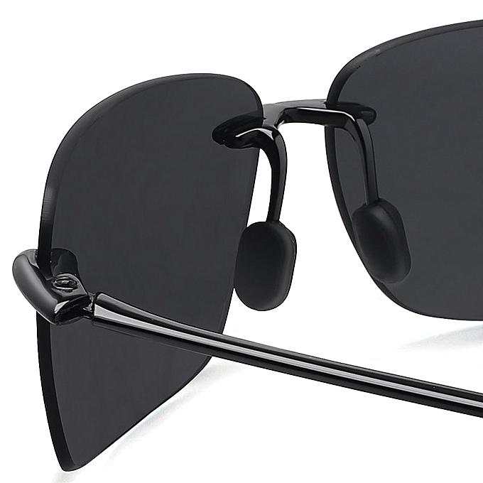 0798c8124e0 ... Classic Sports Sunglasses Men Women Male Driving Golf Rectangle Rimless  Ultralight Frame Sun Glasses UV400 De ...