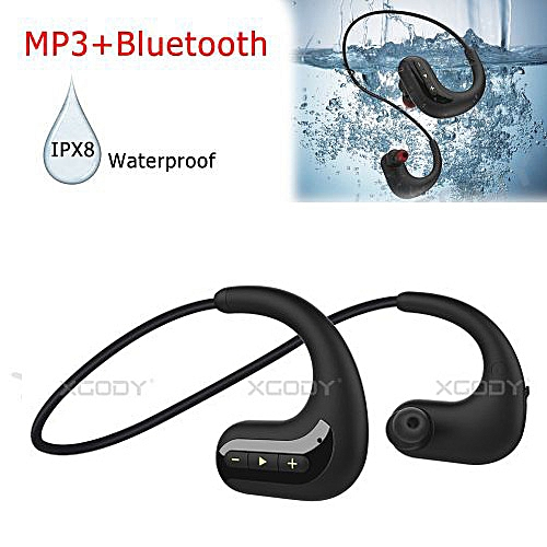 cd1e0330f05 XGODY Swimming Bluetooth Headset Headphone Waterproof Sport Earphone Stereo  Earbuds