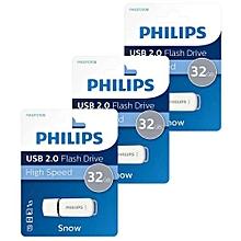 Philips 32GB flash drive 2.0 USB  - White