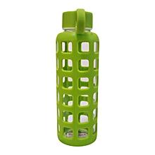 Glass Water Bottle - 350ml - Luminous Green