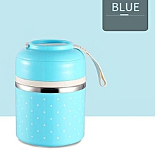 1 LAYER Thermal Lunch Box Leak-Proof Stainless Steel Bento Box Kids Portable Picnic School Food Container With A Bag