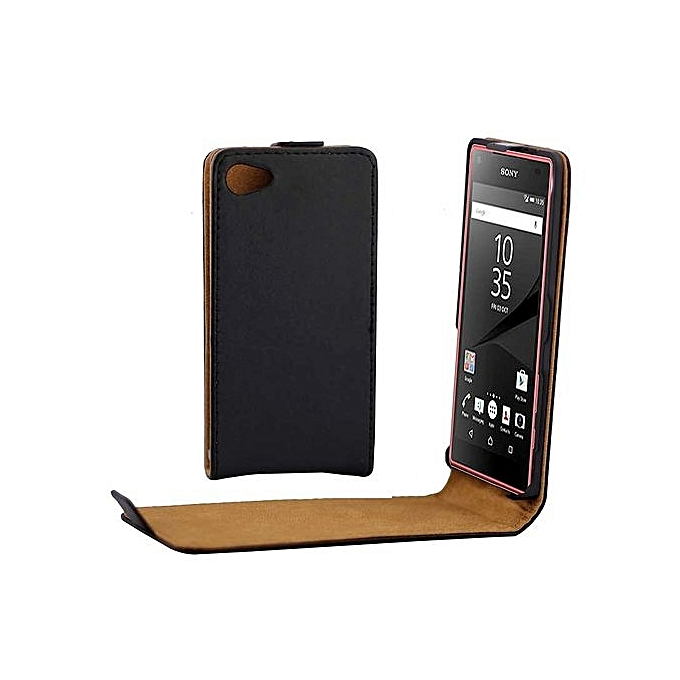 best service 865ef 33286 Khaki Lining Vertical Flip Magnetic Buckle PU Leather Case For Sony Xperia  Z5 Compact / Z5 Mini / E5803 / E5823(Black)