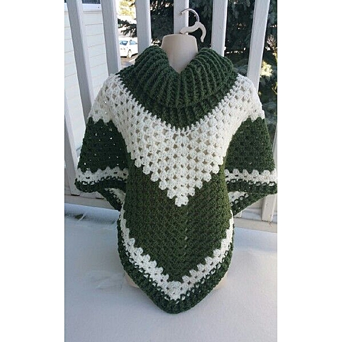 Buy Generic Crochet Handmade Poncho Shawl With A Cowl Neck Best
