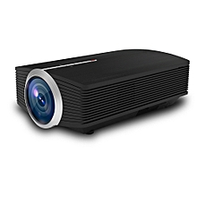 "Docooler YG-500 LED Projector 1080P 130"" Home Theater Video Projector 1200 Lumens 800 * 480 Pixel 1000:1 Contrast Ratio with HD IN VGA AV USB Remote Controller EU Plug"