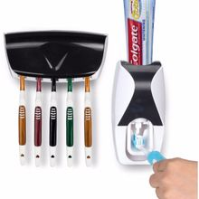 hands free toothpaste squeezer toothbrush holder kit black
