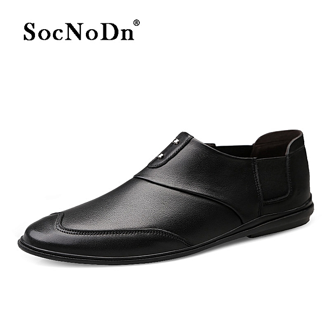 6da853af450d SocNoDn Men Dress Casual Leather Wedding Formal Shoes Loafers Black ...