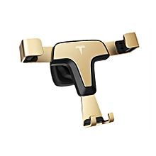 Gravity Car Phone For iphone X 8 Holder Universal Smartphone Grip Air Vent Mount Mobile Phone Holder Stand For Samsung(Gold)