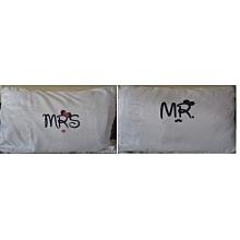 White pair of  fibre pillow