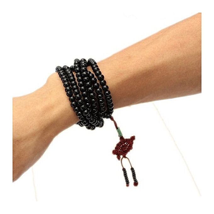 Prayer Beads Tibetan Buddhist Sandalwood Buddha Mala Bracelet Necklace