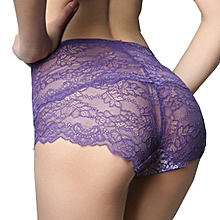 Sexy Hollow Lace High Waisted Perspective Panties