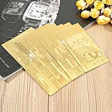 24K Golden Euro Currency Coin Collection Tourist Souvenir Commemorative Banknote