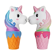 Oriker Squishy Jumbo 20cm Galaxy Rainbow Horse Animal Cup Slow Rising Scented Toy Gift With Pcaking-