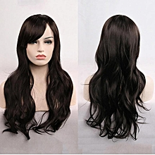 Anime wig 70cm long roll wig hair-black