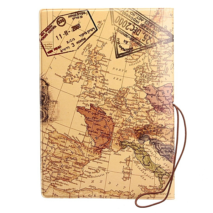 Buy fashion leather world map passport holder organizer travel card buy fashion leather world map passport holder organizer travel card case document cover hot coffee best price online jumia kenya gumiabroncs Image collections