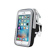 Multifunctional Outdoor Fitness Sports Arm Band Phone Holder Bag for iPhone 8-Black