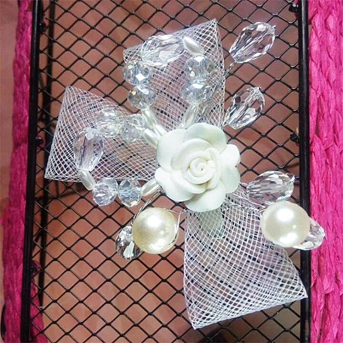 Buy sunshine new bride headdress flower wreath clip flower wedding new bride headdress flower wreath clip flower wedding decoration accessories gift white junglespirit Choice Image