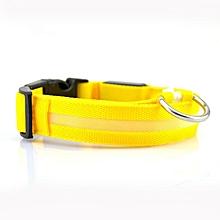 Home-LED Light Dog Pet Night Safety Bright Flashing Adjustable Nylon Collar Leash