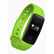 Bluetooth 4.0 Smart Wristband Fitness Tracker For Android IOS  (Color:Green)