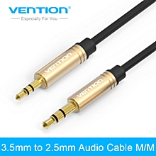 Vention VAB-A09 2m Aux Cable Stereo Jack 3.5mm to 2.5mm male to male Audio Cable Gold-plated Audio Cable for Phone Headphone GOODHD