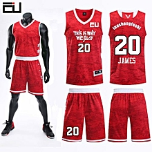 Team And Number Customized Students Men's Basketball Sport Jersey-Red(JL-824)