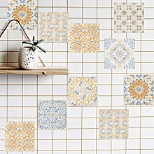 20pcs/1set New Retro Mediterranean Tile with Diy Decoration Living Room Bedroom Free Stitching Wall