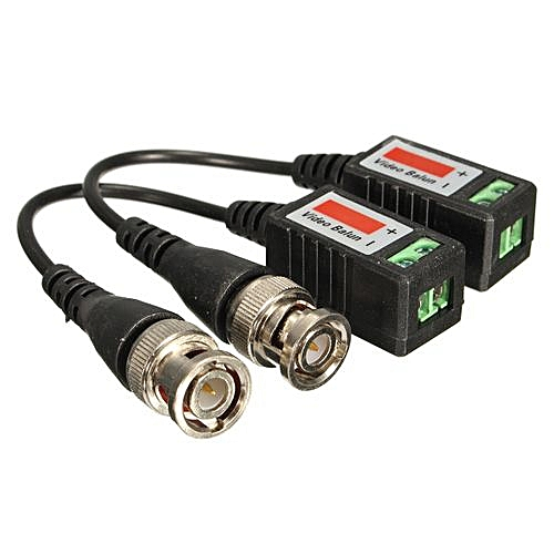 2pcs/set Cctv Camera Passive Video Balun Bnc Connector Coaxial Cable  Adapter Dvr Utp