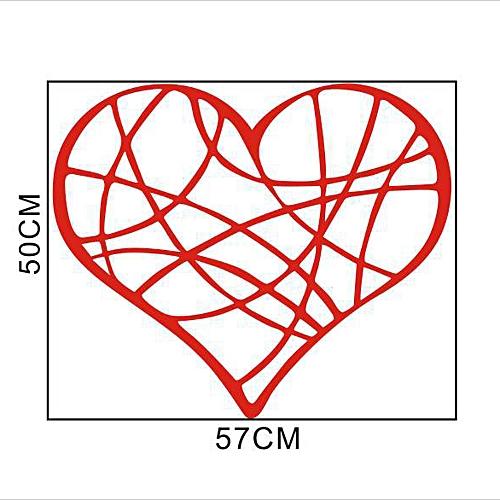 Fashion Valentines Day Love Geometry Window Wall Sticker Mural Decor