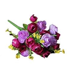 Artificial Flower Artificial Bouquet Flowers Home Decoration  Flowers-Purple