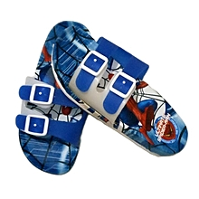 High Quality Spiderman themed slide in flip flops-Mix of Blue,Red and White