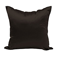 Cushion Covers Solid Color Silks And Satin Pillow Case Hold Pillowcase Black