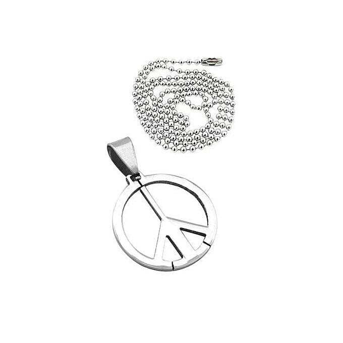 Buy sanwood peace symbol pendant necklace best price online peace symbol pendant necklace aloadofball Images