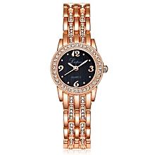 Fashion Casual Genuine Leather Quartz Movement Watch Women Dress Sports Brand Bracelet Watch Gold