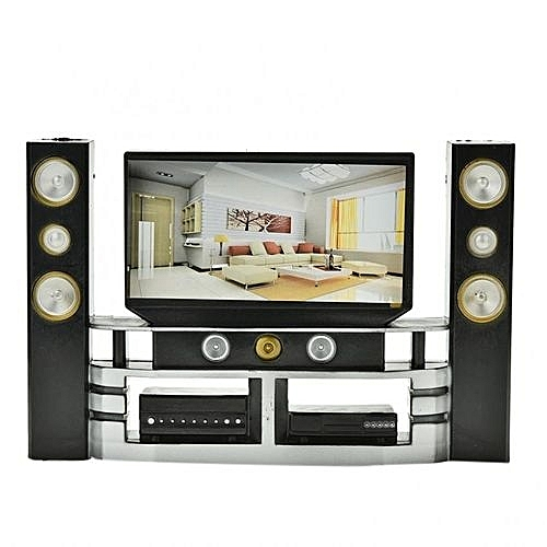 Mini Hi Fi 1:6 TV Home Theater Cabinet Set Combo For Doll.