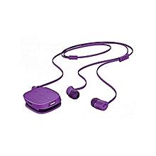 H5000 - Bluetooth Earphones with inbuilt Mirophon-Purple