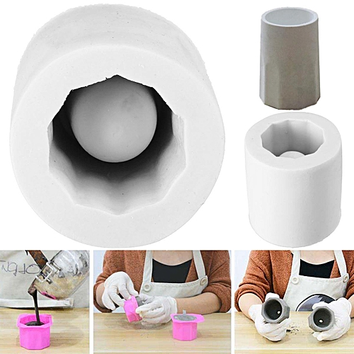 Concrete Cup Flower Pot Silicone Molds DIY Garden Planter Vase Mould Tool  Craft