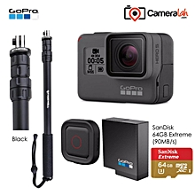 LEBAIQI Go Travel Super Bundle for GoPro HERO5 Black (PRO M3 Black+Remo+Battery+64 Extreme)