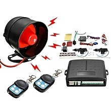 Car Alarm Remote Control System 2 Door Central Door Lock Locking Kit Set Black