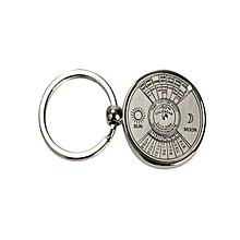 Super Perpetual Unique Metal Key Chain Ring Perpetual Calendar 50 Years Keyring