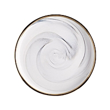 Home-European Style Golden Edge Marbled Ceramic Tableware Bowl Plate Dinnerware gold