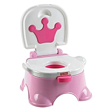Royal Stepstool Potty with Royal Tunes - Pink
