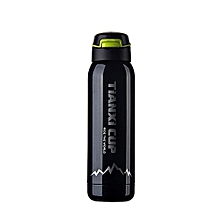 Travel Insulation Cup Stainless Steel Vacuum Tea Cup Water Bottle 500ml-Black