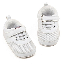 bluerdream-Baby Infant Toddler Shoes Boys Girls Mesh Soft Sole Sneaker Sport Shoes WH/11- White