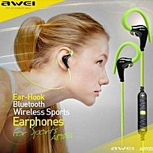 Wireless Bluetooth headphone, A890BL Bluetooth Wireless sports earphone stereo music headset(Green)