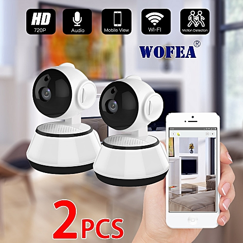 WOFEA Home Security IP Camera Wireless Smart WiFi Camera WI-FI Audio Record  Surveillance Baby Monitor CCTV Camera iCSee 2pcs/lot(3 6mm)
