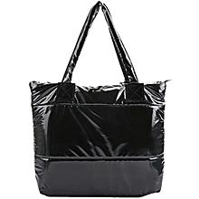 Solid Color Tote Bag  - Black