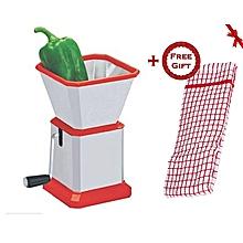 Dry Fruit & Pepper Cutter - Slicer + FREE Gift Kitchen Towel