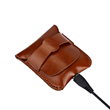 Hiamok_Headset Portable Leather Case Protective Cover Bag Pouch For Apple Airpods BW