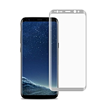 Full Coverage Curved Screen Tempered Glass Protective Film For Samsung S8 Silver